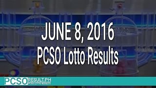 PCSO Lotto Results June 8, 2016 (6/55, 6/45, 4D, Swertres & EZ2)