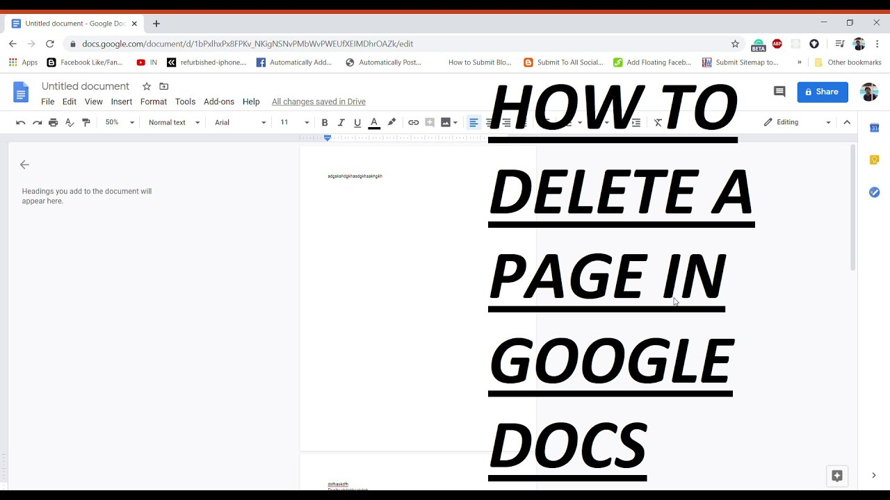 How To Delete A Page In Google Docs 2020 Youtube How to delete a google docs page for a document converted from microsoft word. to delete a page in google docs 2020