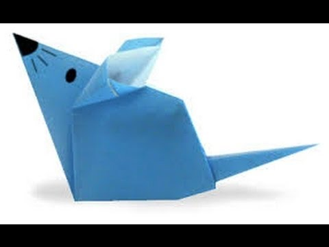 Origami Tutorial - How to fold Origami Mouse Animal