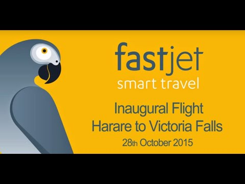Inaugural fastjet flight from Harare to Victoria Falls