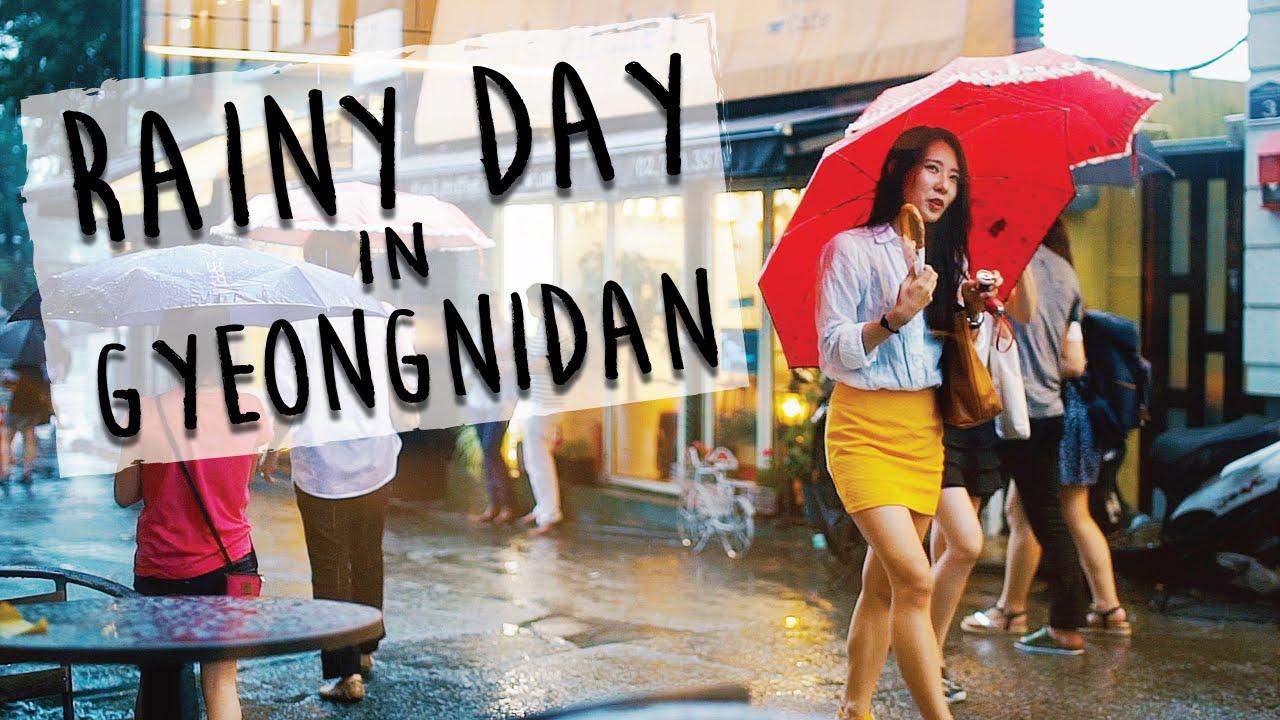People Watching In Korea 🇰🇷 Rainy Day In Gyeongnidan