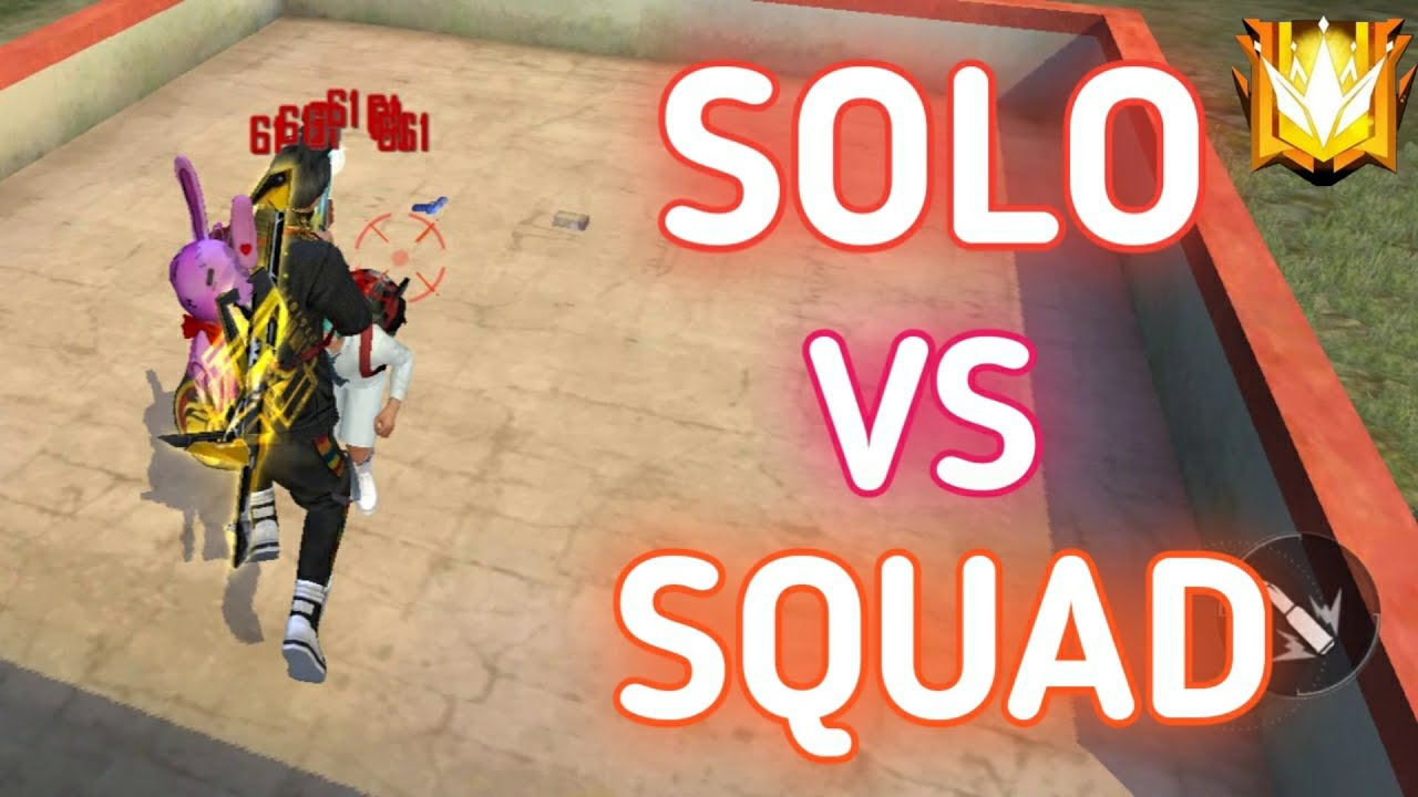 SOLO VS SQUAD FULL RUSH GAMEPLAY ON GRANDMASTER 12000+ RANK POINTS || FT. THE UNBEATABLE PLAYER !!!!
