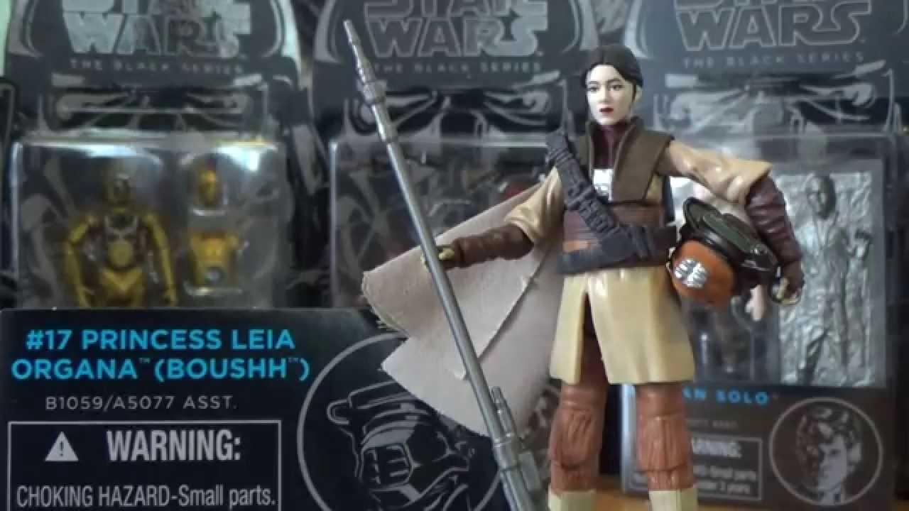 "Starwars The Black Series #17 Princess Leia 3.75"" New"