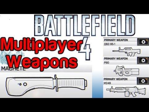 Battlefield 4 - Unlock the Shank, Machete, M412 REX, P90, M249, in BF4 Multiplayer [BF4 Launch]