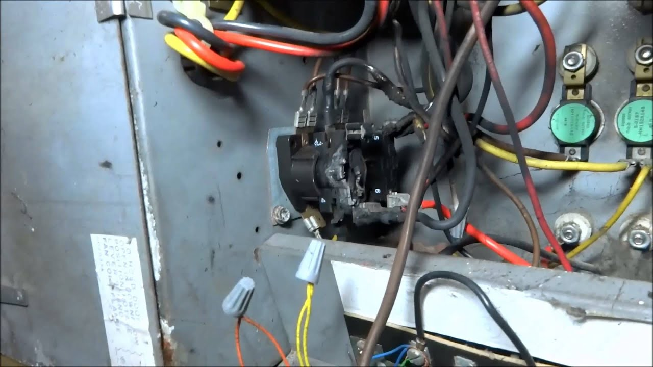 hvac:heat pump system with fried wires will not cool - YouTube