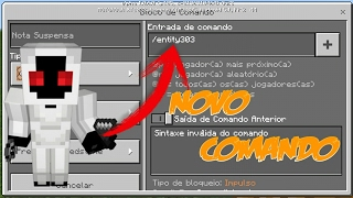 COMANDO DO ENTITY 303 NO MINECRAFT POCKET EDITION 1.0.6 (COMMAND BLOCK) (Addon)