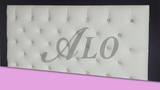 DIY - TUFTED HEADBOARD WITH CRYSTALS - ALO Upholstery