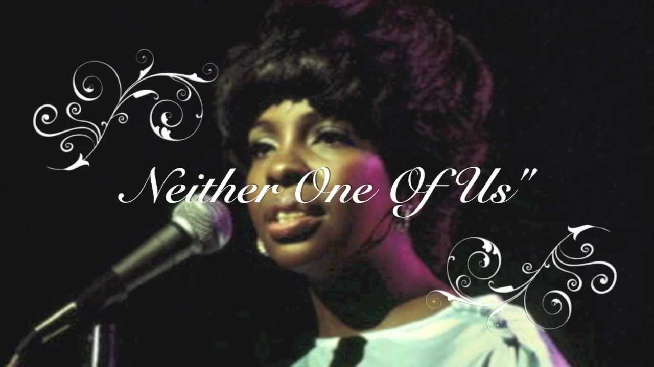 Gladys Knight The Pips Neither One Of Us With Lyrics Youtube