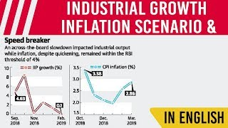 Slowdown in Industrial Growth & rising Inflation, Its impact on Indian Economy, Current Affairs 2019