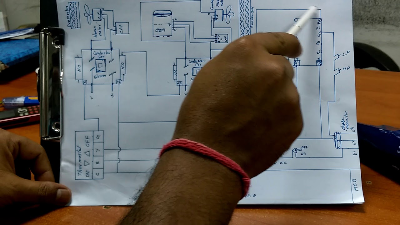 package a c control wiring diagram in hindi [ 1280 x 720 Pixel ]