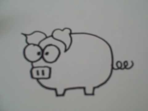 how to draw a cartoon pig youtube