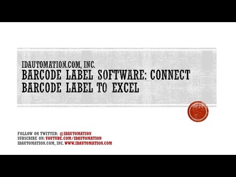 How to Create a Barcode Label with by linking to an Excel Data Source