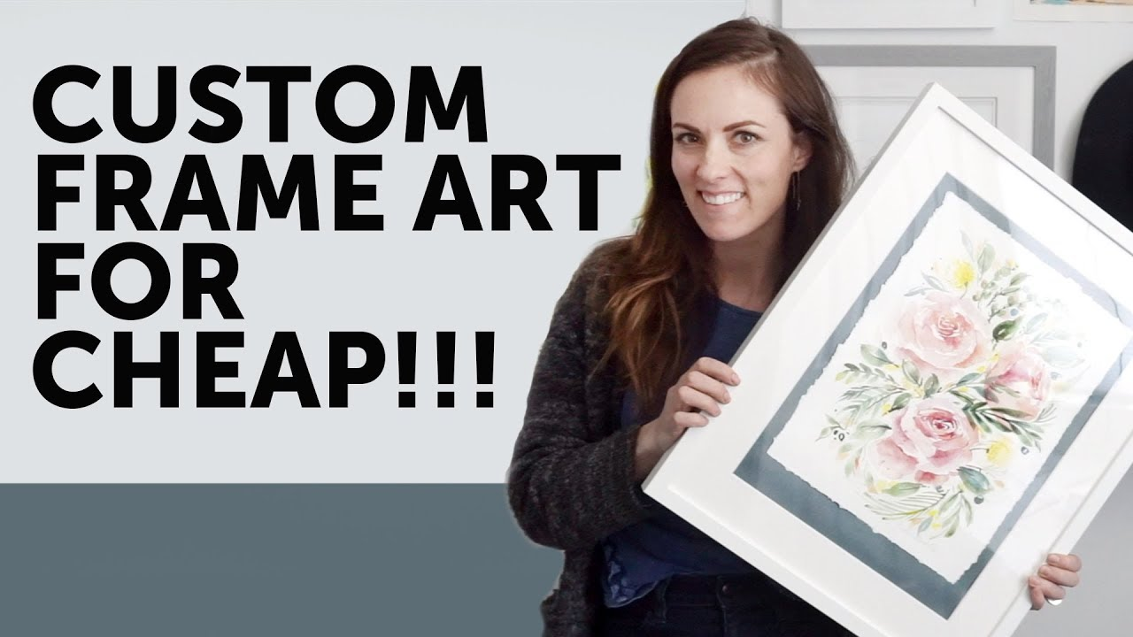 How To Custom Frame Artwork For Make A Deckled