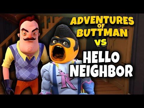 Adventures of Buttman #22: HELLO NEIGHBOR! (Annoying Orange GTA V)