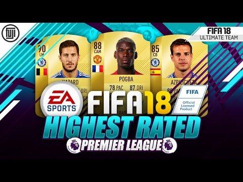 FIFA 18 HIGHEST RATED PREMIER LEAGUE SQUAD!!! FT. POGBA & HAZARD! - FIFA 18 Ultimate Team