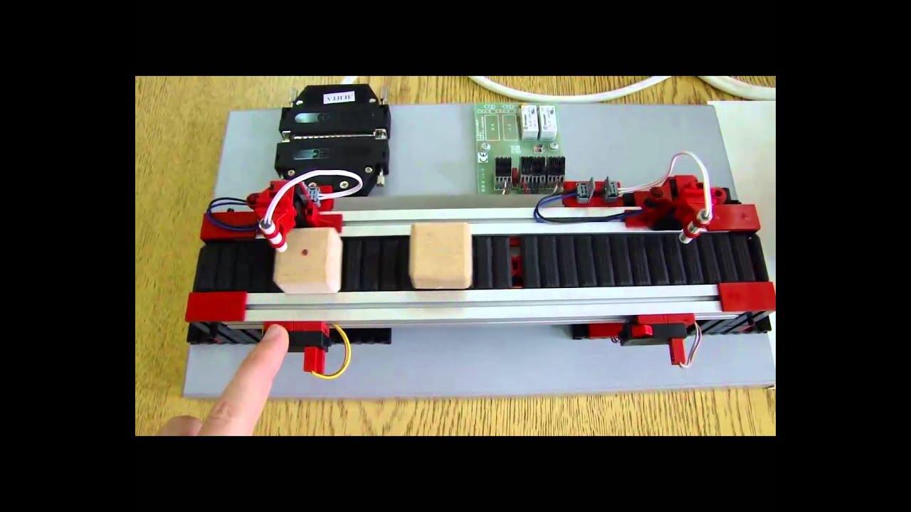 control of a conveyor belt with plc beckhoff cx 1000 youtube. Black Bedroom Furniture Sets. Home Design Ideas
