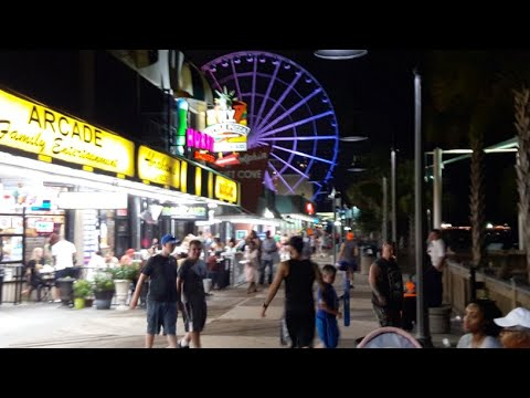 Summer 4th July Myrtle Beach Sc Video Boardwalk Ocean Blvd