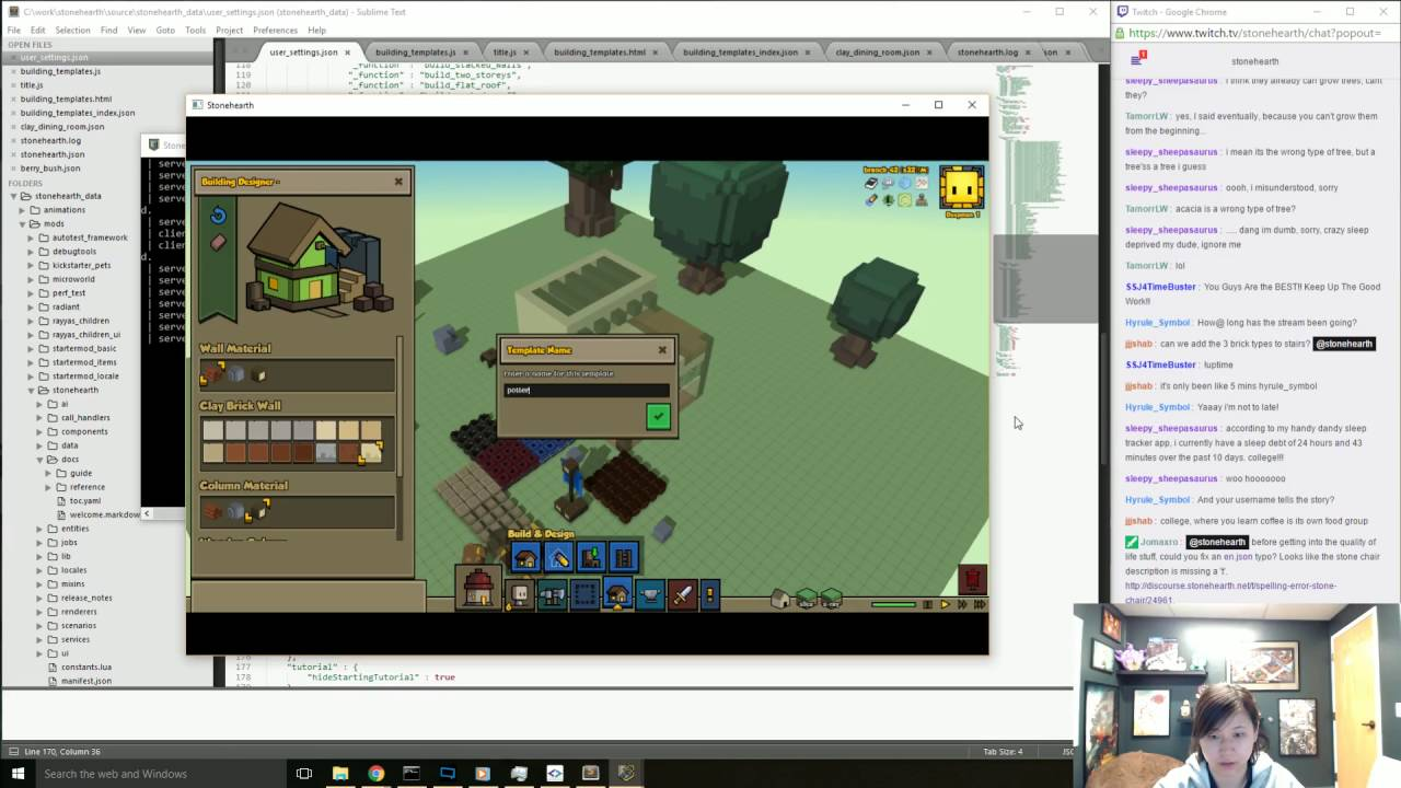 Stonehearth Dev Stream #219: Quality Of Life Improvements