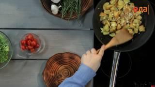 Жареный картофель с медово-горчичной заправкой