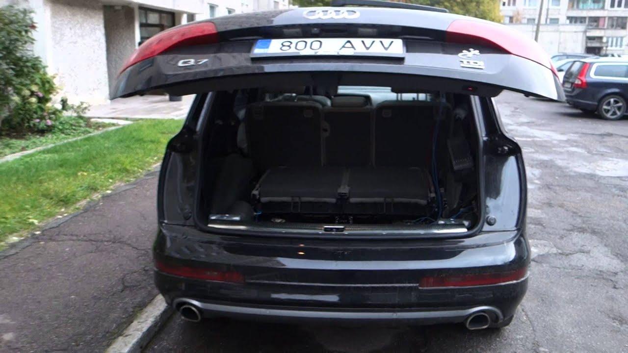 Audi Q7 El Trunk Install P3 Height Setting