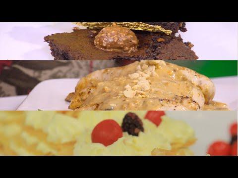 براونيز شيكولاتة بالبندق- صدور دجاج بالفول السوداني - كيكة الجبنة | نص مشكل حلقة كاملة