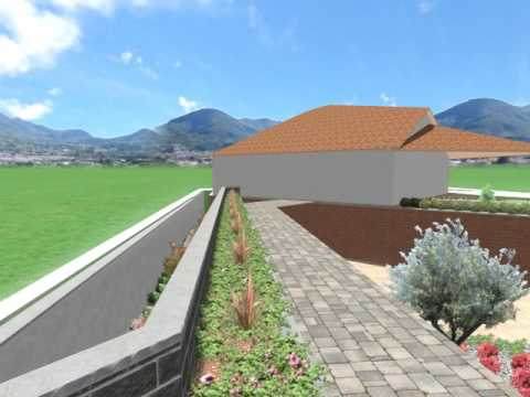 Giardino a terrazze moderne - YouTube