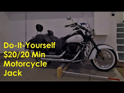 Do It Yourself $20 Motorcycle Jack in 20 Minutes (Made for Vulcan 900 Classic)