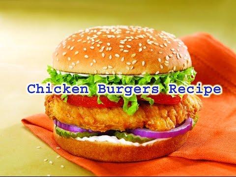 chicken burgers recipe