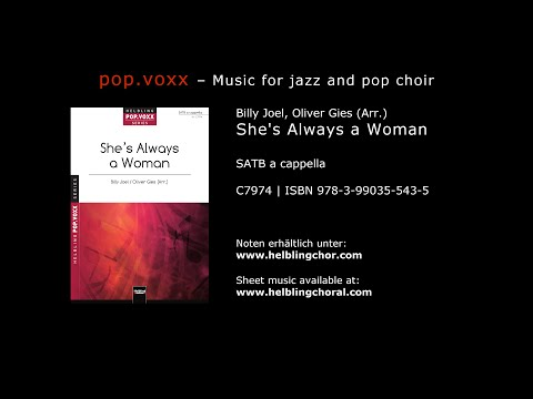 Billy Joel / Oliver Gies (Arr.) - She's Always a Woman