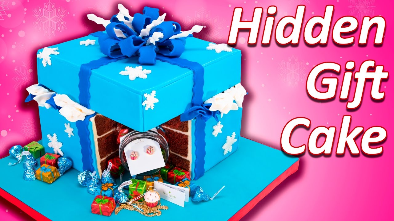 Present cake hidden gift in a cake youtube negle Images