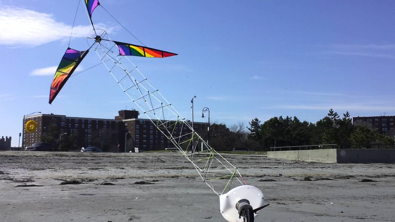 Proof of concept for an Airborne Wind Energy System based on an Open  Tensegrity Shaft (OTS)