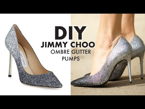 DIY: Holiday Ombre Glitter Heels! (JIMMY CHOO HACK!) -By Orly Shani