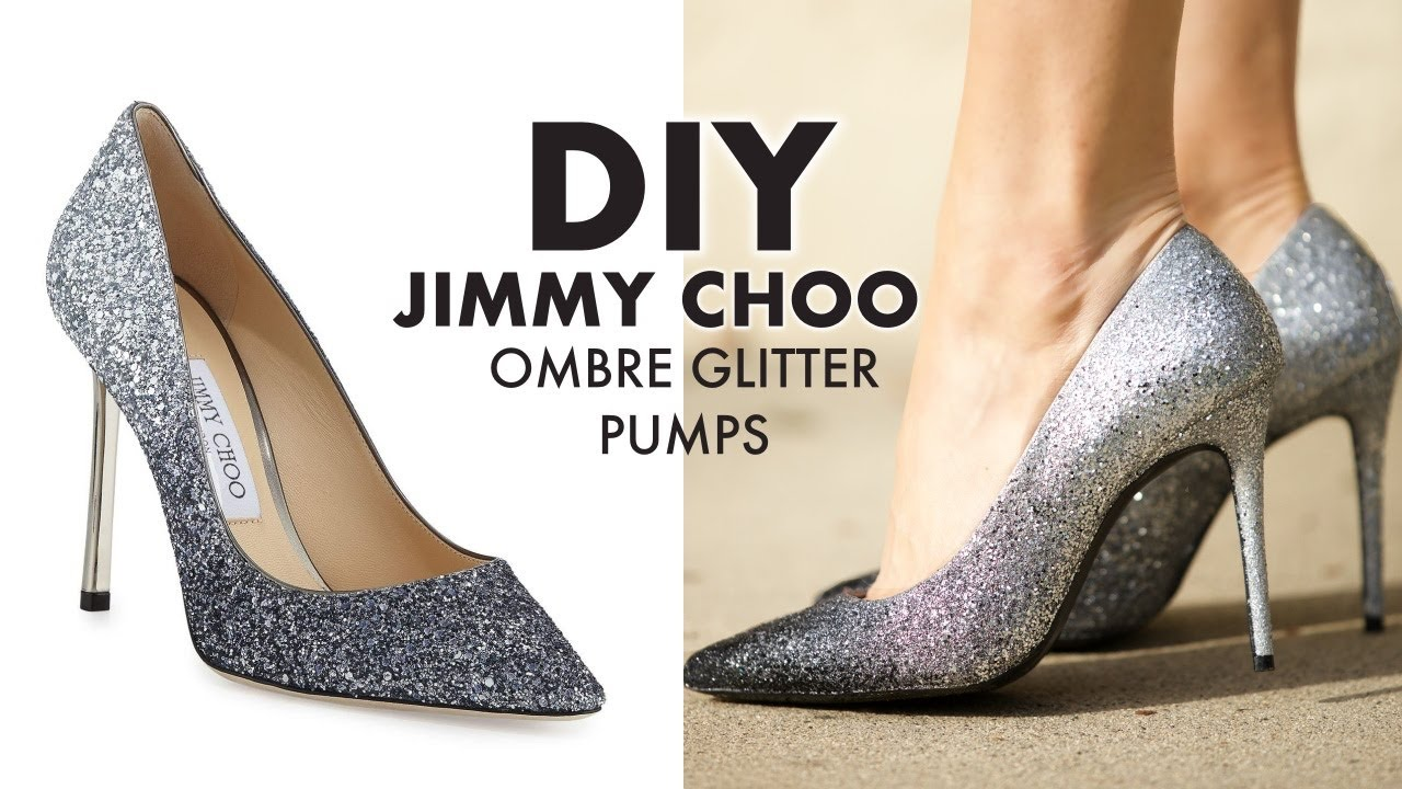 Diy Holiday Ombre Glitter Heels Jimmy Choo Hack By Orly Shani Youtube