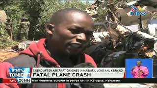 Five dead after aircraft crashes in Masaita, Londiani, Kericho County