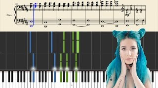 Halsey - Trouble (Stripped) - Piano Tutorial + Sheets