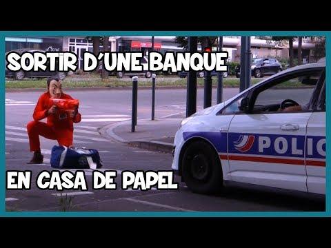 Sortir D'une Banque En Casa De Papel - Défi Prank - Les Inachevés