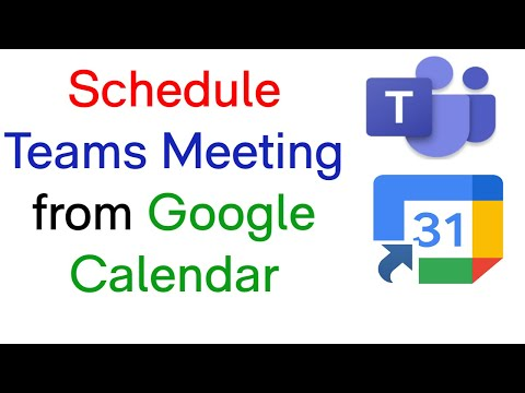 How To Schedule Teams Meeting in Google Calendar | Microsoft Teams and Google Calendar Integration