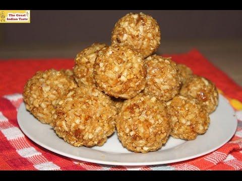 Poha Ke Ladoo (Flattened Rice Sweet Balls) - Thegreatindiantaste.com