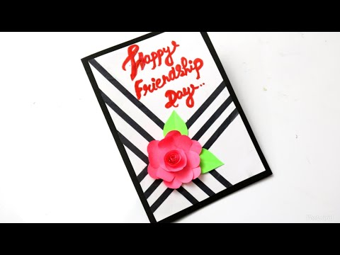 Friendship Day Card| Making Beautiful Greeting Card For Friends| Gift Idea For Friends #card #gift