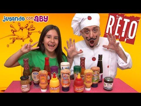 Reto de SALSAS ASQUEROSAS. Aby contra el Cocinero Nerón. Salsa Challenge.