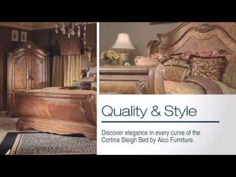 Cortina Sleigh Bed From Aico Furniture