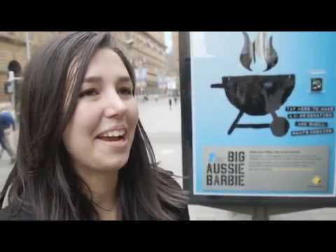 ambient media - Prostate cancer awareness campaign   BBQ talk  JCDecaux Australia