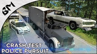 BeamNG Drive - Police Poursuite - High Speed Crash - Avion !