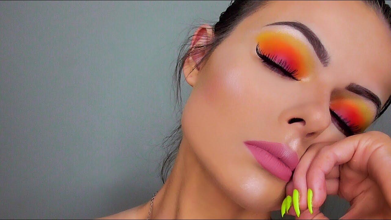 Sunset Eyeshadow Tutorial Take Me Back To Brazil Palette Youtube