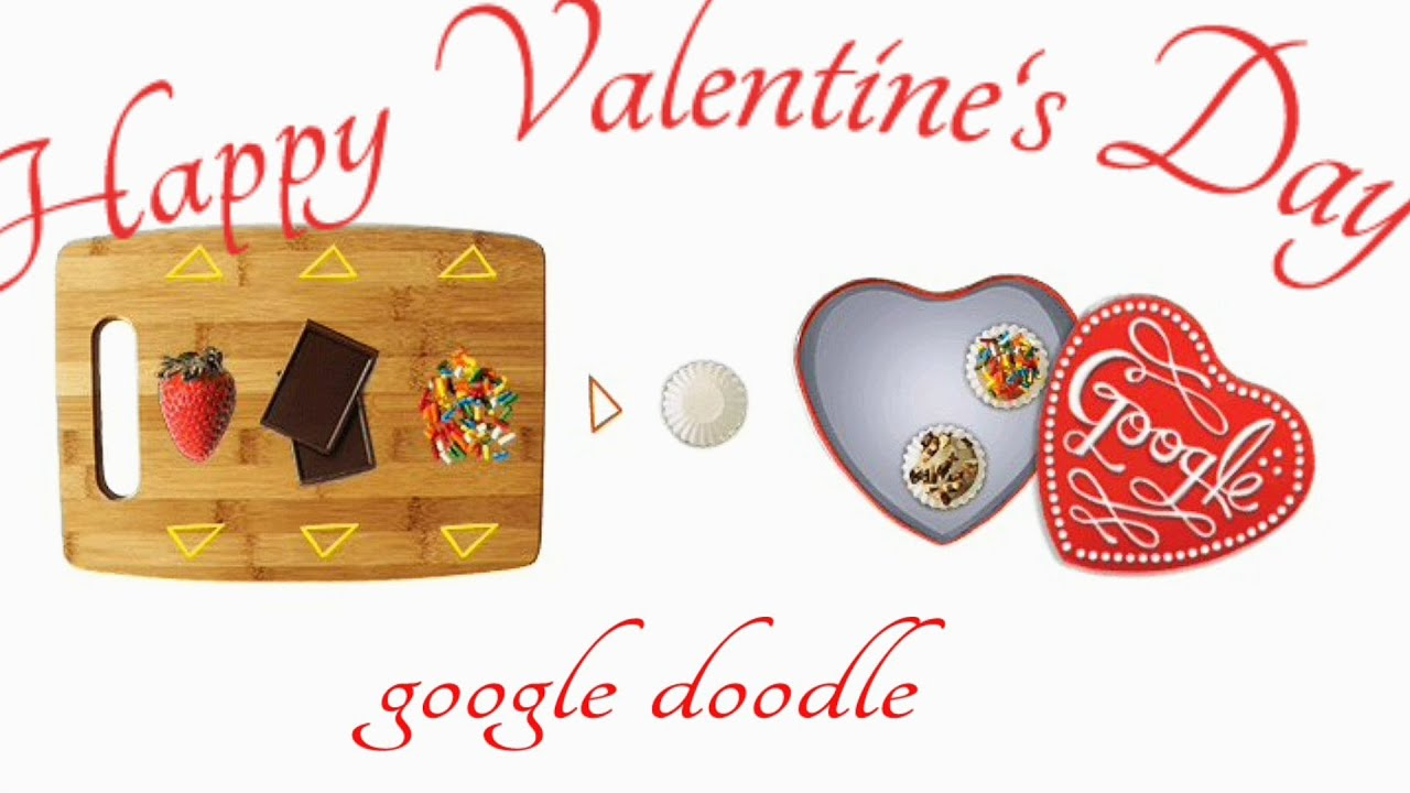happy valentine 39 s day google doodle valentinstag 2014 interactive chocolate creator youtube. Black Bedroom Furniture Sets. Home Design Ideas