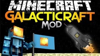 Minecraft Mods | GALACTICRAFT MOD - Launch to the Moon in Minecraft! - Mod Showcase