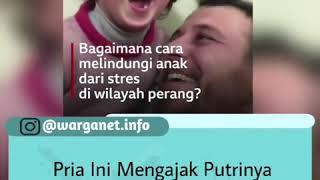 Download VIRAL! Pria ini Mengajak Putrinya Tertawa setiap kali Mendengar Suara Bom?!