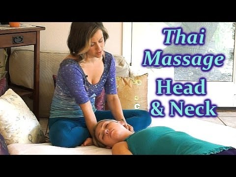 Thai Neck & Head Massage How To, Asian Body Massage Therapy Techniques, Relaxing Massage ASMR