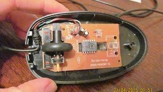 Repair of optical mouse with a toothpick / Ремонт оптической мышки с помощью зубочистки