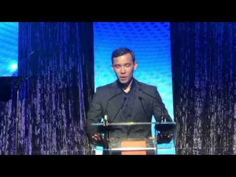 Conrad Ricamora  Equality Visibility Award Acceptance Speech September 16, 2017